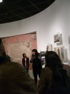 "Pilar Tompkins Rivas leads a tour of ""Mapping Another L.A.: The Chicano Art Movement"" at the Fowler Museum at UCLA, 1/21/12"